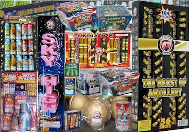 Dominator Liuyang China Fireworks, cakes, repeaters, shyrockets, roman candles, firecrackers